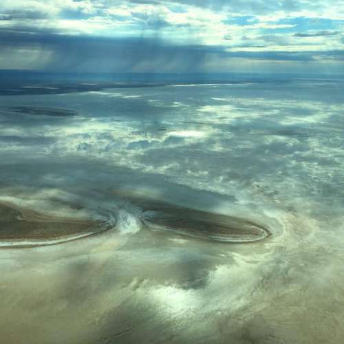 Breathtaking views of Lake Eyre after recent rain!