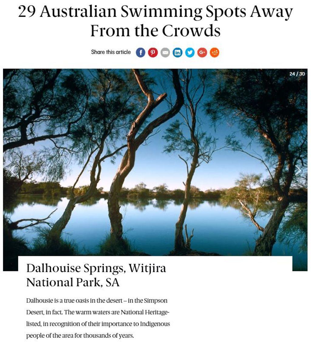 Dalhousie Springs Top swim destination